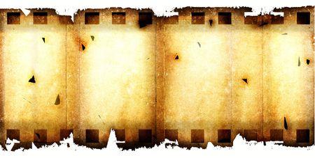 Old 35 mm movie Film reel,2D digital art Stock Photo - 3358949