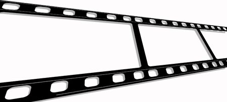 35mm: 35mm Film frames,2D art Stock Photo