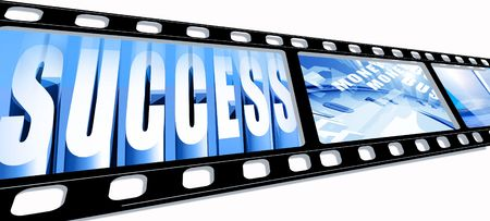 35 mm slid frames with Business success photo
