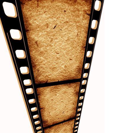 movie film reel: Old 35 mm carrete de pel�cula de cine, el arte digital en 2D  Foto de archivo