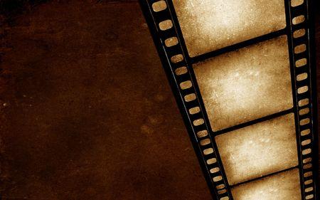 35: Antiguo de 35 mm de rollo de pel�cula de cine, arte digital 2D Foto de archivo