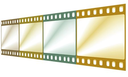 negativity: 35 mm film negative with color lighting