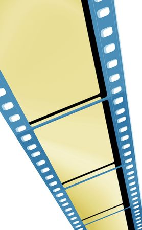 35 mm film negative with color lighting photo