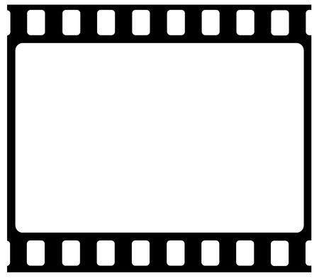 negativity: 35mm Film frames,2D art Stock Photo