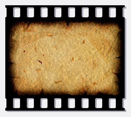 old photograph: Old 35 mm movie Film reel,2D digital art