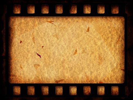 rollo fotogr�fico: Antiguo de 35 mm de rollo de pel�cula de cine, arte digital 2D Foto de archivo