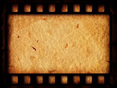 cinema strip: Old 35 mm movie Film reel,2D digital art