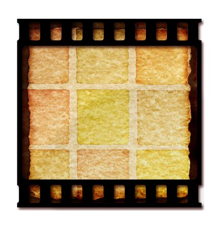 Old 35 mm movie Film reel,2D digital art Stock Photo - 3359132