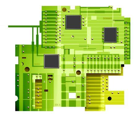 Electronic circuit board,2D digital art photo