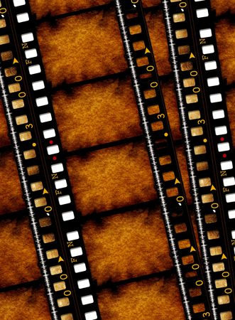 Old 35 mm movie Film reel,2D digital art Stock Photo - 3380487