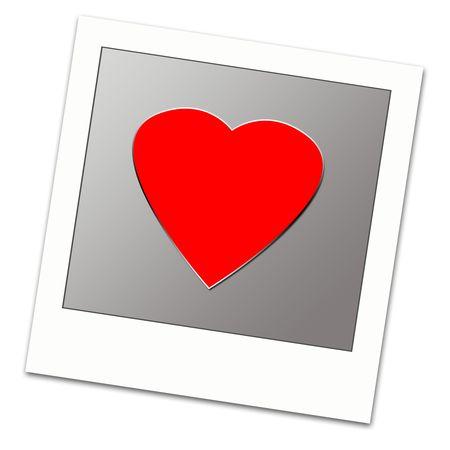 Polaroid frame with love,2D digital art photo