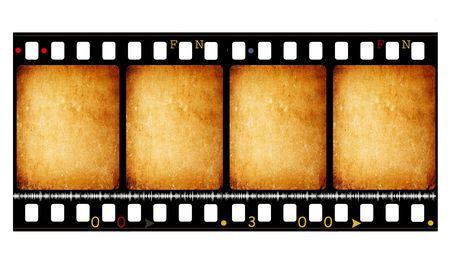 Viejo de 35 mm de rollo de película de cine, el arte digital en 2D