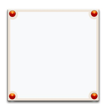 metallic border: Metallic border frame on white background