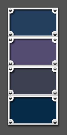 Metallic border frame on white background photo