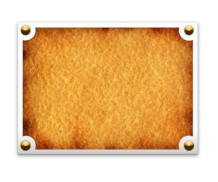 steel frame: Metallic border frame on white background