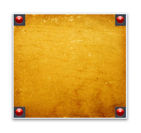 Metallic border frame with wood texture photo
