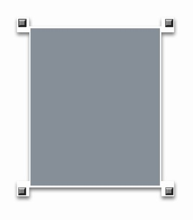 silver screen: Metallic border frame with wood texture