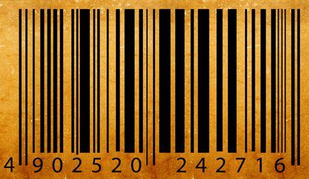 Old bar code label, 2D digital art Stock Photo - 3386550