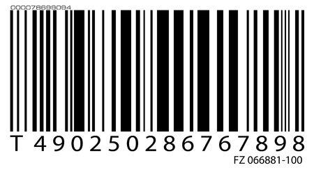 vend: Old bar code label, 2D digital art
