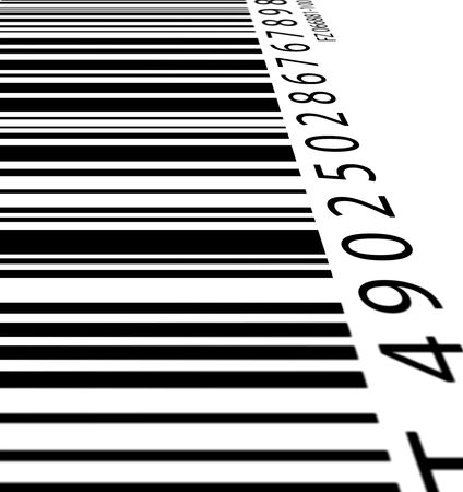 vend: Bar code label,2D digital art Stock Photo
