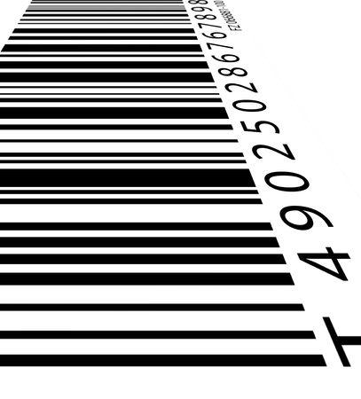 manufacturer: Old bar code label, 2D digital art