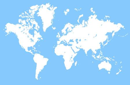 terra: Vintage world map Stock Photo