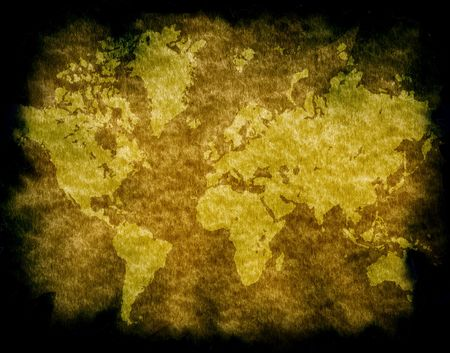 Vintage world map,2D digital art Imagens