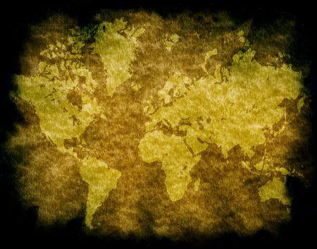 Vintage world map,2D digital art photo