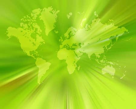 terra: World map,2D digital art Stock Photo