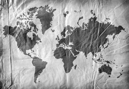 Vintage world map,2D digital art Stock Photo - 3398317