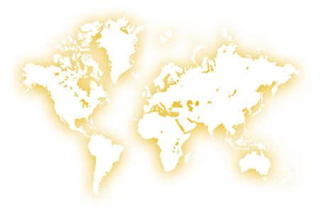 World map,2D digital art photo