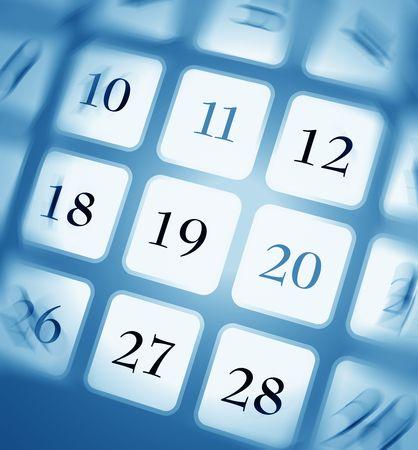 expectation: Close up of a calendar Stock Photo