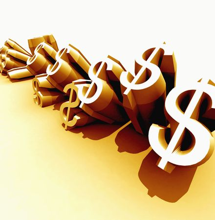 cash flows: Dollars Stock Photo