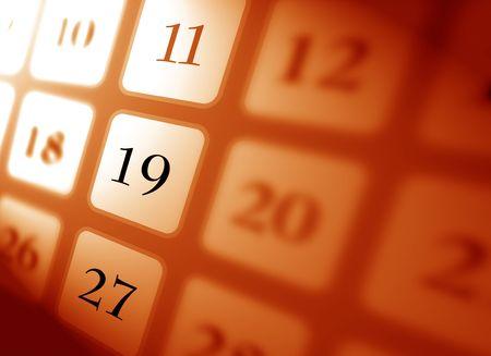 almanac: Colse up of calendar,2D digital art