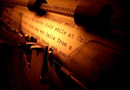 Close up of old typewriter photo