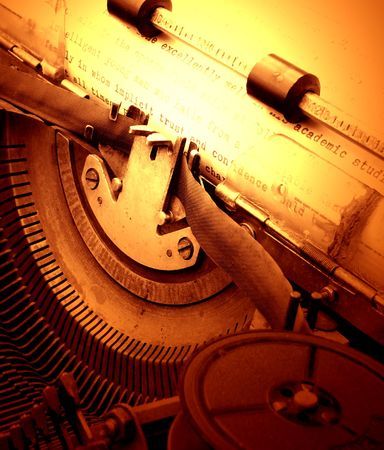 Close up of old typewriter Imagens
