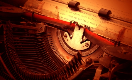 type writer: Close up of old typewriter Stock Photo