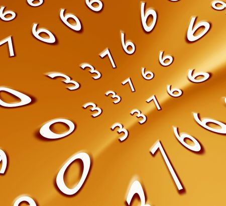 numeracy: Abstract numbers,2D  art Stock Photo