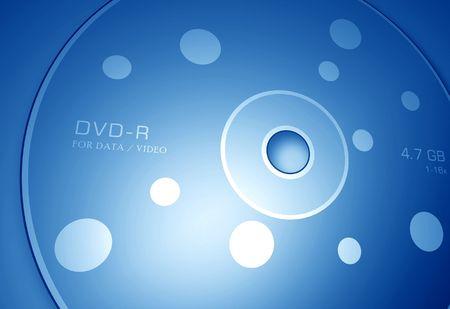 DVD disk,2D digital art Stock Photo