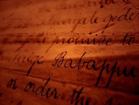 annals: Close up of vintage handwriting Stock Photo