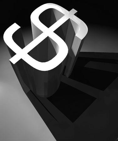 3D Dollar mark ,3d art Stock Photo - 3398202