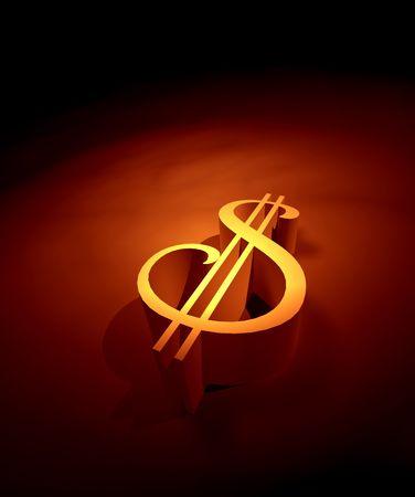 hoard: 3D Dollar mark ,3d art Stock Photo