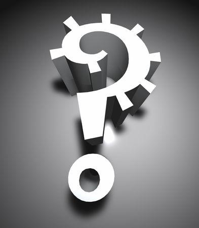 3d question mark icon ,3D art
