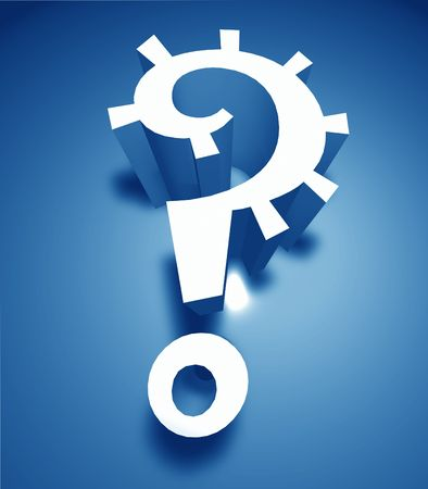 3d question mark icon ,3D art Stock Photo - 3398153