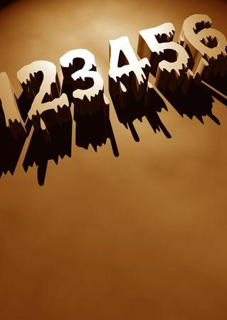 3D numbers,3D digital art photo