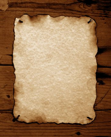 Old paper with burned edges for background Stock Photo - 3398376