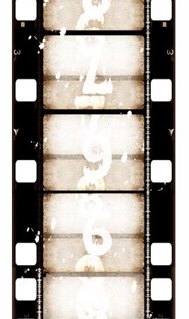 illustrates: Grunge film frame ,2D digital art