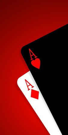 chances are: Aces on a gradient background Stock Photo
