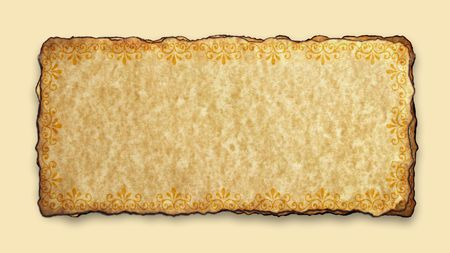 yellowish: Decorative border frame,2D  digital art   Stock Photo