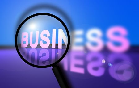 Business success with magnifying glass Stock Photo - 3405339